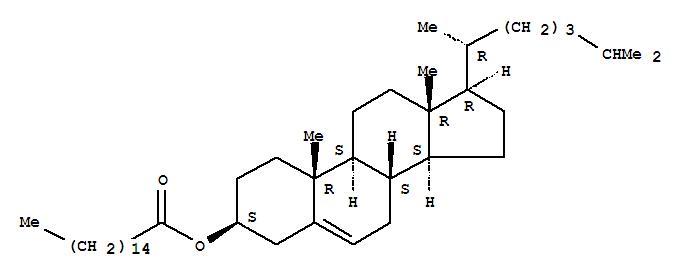 Molecular Structure of 601-34-3 (Cholest-5-en-3-ol (3b)-, 3-hexadecanoate)