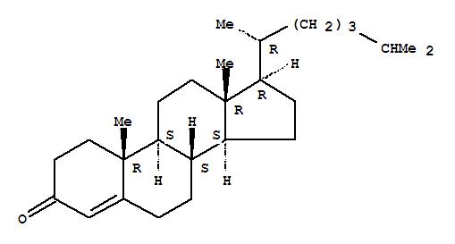 Molecular Structure of 601-57-0 (Cholest-4-en-3-one)