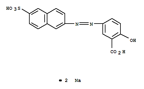 Benzoic acid,2-hydroxy-5-[2-(6-sulfo-2-naphthalenyl)diazenyl]-, sodium salt (1:2) product picture