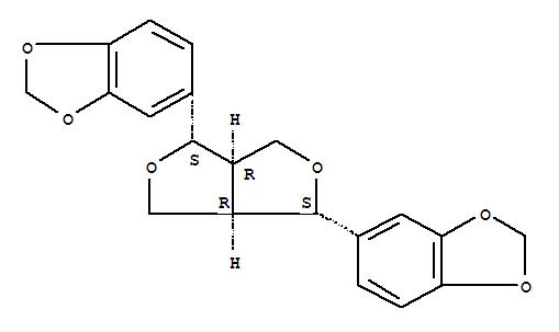 607-80-7,1,3-Benzodioxole,5,5'-(tetrahydro-1H,3H-furo[3,4-c]furan-1,4-diyl)bis-, (1S,3aR,4S,6aR)-,1,3-Benzodioxole,5,5'-(tetrahydro-1H,3H-furo[3,4-c]furan-1,4-diyl)bis-, [1S-(1a,3aa,4a,6aa)]-;1H,3H-Furo[3,4-c]furan,tetrahydro-1,4-bis[3,4-(methylenedioxy)phenyl]-, (1S,3aR,4S,6aR)- (8CI);(+)-Sesamin;5,5'-(Tetrahydro-1H,3H-furo[3,4-c]furan-1,4-diyl)bis-1,3-benzodioxole;Fagarol;NSC 36403;Sesamin, (+)-;Sezamin;Tetrahydro-1,4-bis[3,4-(methylenedioxy)phenyl]-1H,3H-furo[3,4-c]furan;d-Sesamin;
