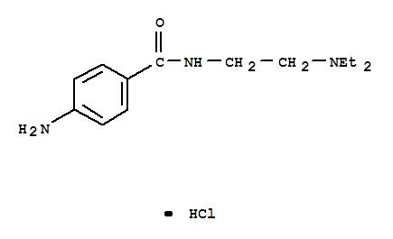 CAS NO:614-39-1 Benzamide,4-amino-N-[2-(diethylamino)ethyl]-, hydrochloride (1:1) Molecular Structure