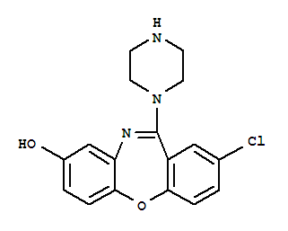 CAS NO:61443-78-5 Dibenz[b,f][1,4]oxazepin-8-ol,2-chloro-11-(1-piperazinyl)- Molecular Structure