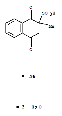Molecular Structure of 6147-37-1 (2-Naphthalenesulfonicacid, 1,2,3,4-tetrahydro-2-methyl-1,4-dioxo-, sodium salt, hydrate (1:1:3))