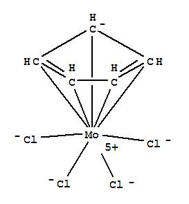 CAS NO:62927-99-5 Molybdenum,tetrachloro(h5-2,4-cyclopentadien-1-yl)- Molecular Structure