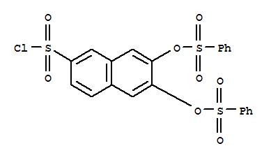 63217-39-0,2-Naphthalenesulfonylchloride, 6,7-bis[(phenylsulfonyl)oxy]-,6,7-bis[(phenylsulphonyl)oxy]naphthalene-2-sulphonyl chloride