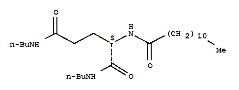 Molecular Structure of 63663-21-8 (Pentanediamide,N1,N5-dibutyl-2-[(1-oxododecyl)amino]-, (2S)-)