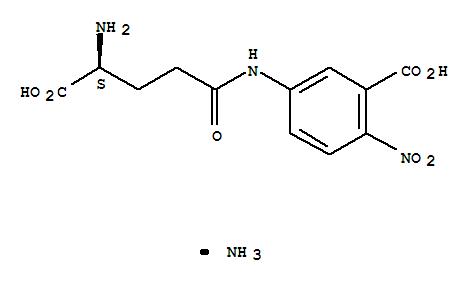 CAS NO:63699-78-5 Benzoic acid,5-[(4-amino-4-carboxy-1-oxobutyl)amino]-2-nitro-, monoammonium salt, (S)- (9CI) Molecular Structure