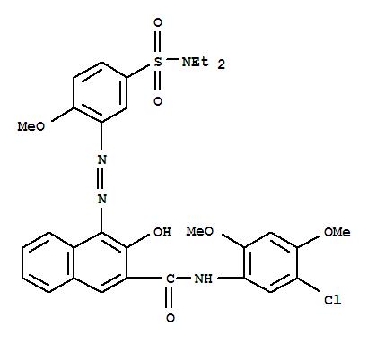 Molecular Structure of 6410-41-9 (2-Naphthalenecarboxamide,N-(5-chloro-2,4-dimethoxyphenyl)-4-[2-[5-[(diethylamino)sulfonyl]-2-methoxyphenyl]diazenyl]-3-hydroxy-)