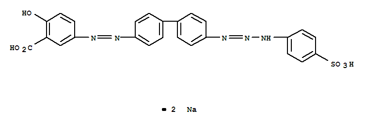 Molecular Structure of 6486-29-9 (Direct Yellow 24)