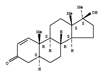 Molecular Structure of 65-04-3 (17α-Methyl-1-testosterone)