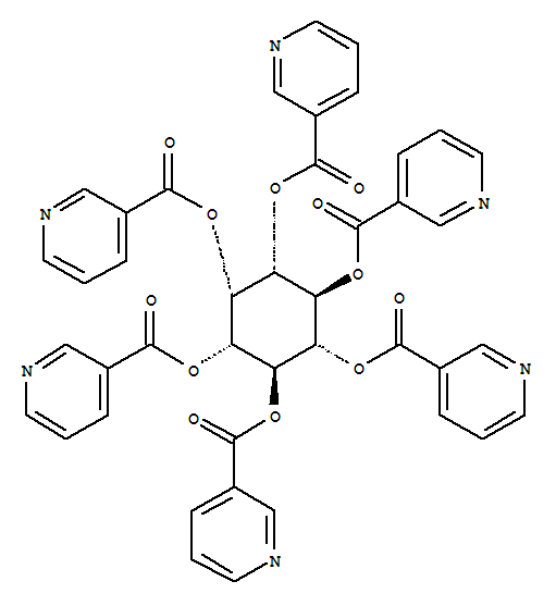 Molecular Structure of 6556-11-2 (myo-Inositol,hexa-3-pyridinecarboxylate)