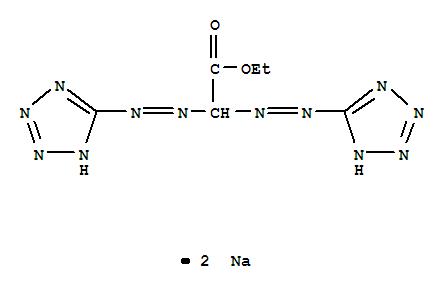 CAS NO:6597-22-4 Acetic acid,bis(1H-tetrazol-5-ylazo)-, ethyl ester, disodium salt (8CI,9CI) Molecular Structure