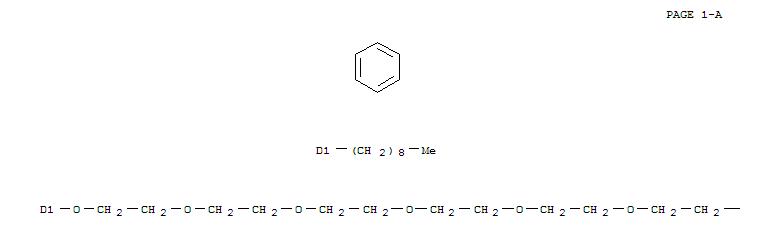 CAS NO:66197-78-2 3,6,9,12,15,18,21,24-Octaoxahexacosan-1-ol,26-(nonylphenoxy)-, 1-(dihydrogen phosphate) Molecular Structure