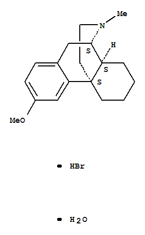 Molecular Structure of 6700-34-1 (Morphinan,3-methoxy-17-methyl-, hydrobromide, hydrate (1:1:1), (9a,13a,14a)-)