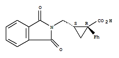 Molecular Structure of 69160-56-1 ((Z)-1-Phenyl-2-(phthalimidomethyl)cyclopropanecarboxylic acid)