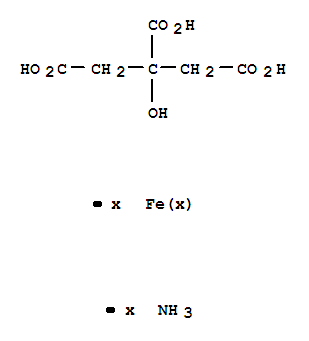 Molecular Structure of 7050-19-3 (1,2,3-Propanetricarboxylicacid, 2-hydroxy-, ammonium iron salt (1:?:?))