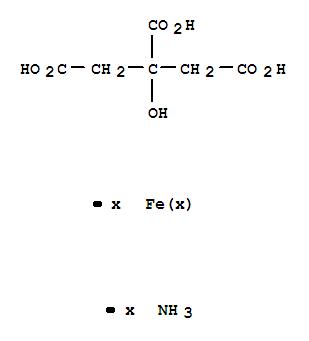 Molecular Structure of 7050-19-3 (1,2,3-Propanetricarboxylicacid, 2-hydroxy-, ammonium iron salt (1:?:?))