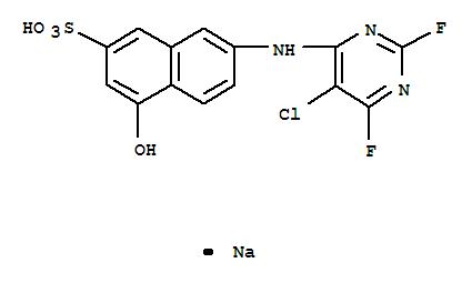 70714-71-5,2-Naphthalenesulfonic acid,7-[(5-chloro-2,6-difluoro-4-pyrimidinyl)amino]-4-hydroxy-, sodium salt (1:1),2-Naphthalenesulfonicacid, 7-[(5-chloro-2,6-difluoro-4-pyrimidinyl)amino]-4-hydroxy-, monosodiumsalt (9CI)