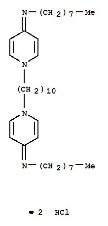 Molecular Structure of 70775-75-6 (1-Octanamine,N,N'-(1,10-decanediyldi-1(4H)-pyridinyl-4-ylidene)bis-, hydrochloride (1:2))