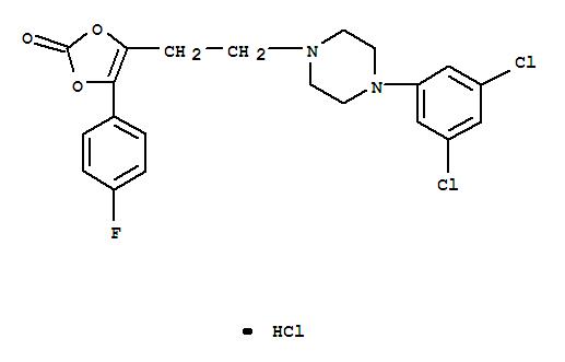 71923-04-1,1,3-Dioxol-2-one,4-[2-[4-(3,5-dichlorophenyl)-1-piperazinyl]ethyl]-5-(4-fluorophenyl)-,hydrochloride (1:1),1,3-Dioxol-2-one,4-[2-[4-(3,5-dichlorophenyl)-1-piperazinyl]ethyl]-5-(4-fluorophenyl)-,monohydrochloride (9CI)
