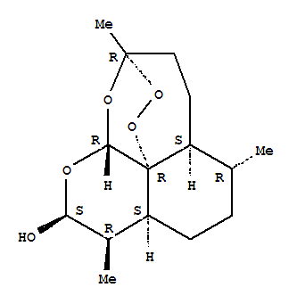 Molecular Structure of 71939-50-9 (3,12-Epoxy-12H-pyrano[4,3-j]-1,2-benzodioxepin-10-ol,decahydro-3,6,9-trimethyl-, (3R,5aS,6R,8aS,9R,10S,12R,12aR)-)