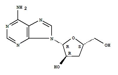 Molecular Structure of 73-03-0 (Cordycepin)