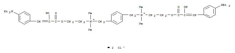 73570-66-8,1,4-Benzenedimethanaminium,N1,N4-bis[2-[[2-cyano-3-[4-(diethylamino)phenyl]-1-oxo-2-propen-1-yl]oxy]ethyl]-N1,N1,N4,N4-tetramethyl-,chloride (1:2),1,4-Benzenedimethanaminium,N,N'-bis[2-[[2-cyano-3-[4-(diethylamino)phenyl]-1-oxo-2-propenyl]oxy]ethyl]-N,N,N',N'-tetramethyl-,dichloride (9CI)