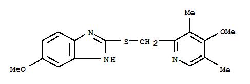 Molecular Structure of 73590-85-9 (1H-Benzimidazole,6-methoxy-2-[[(4-methoxy-3,5-dimethyl-2-pyridinyl)methyl]thio]-)