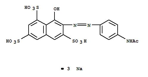 74499-56-2,1,3,6-Naphthalenetrisulfonicacid, 7-[2-[4-(acetylamino)phenyl]diazenyl]-8-hydroxy-, sodium salt (1:3),1,3,6-Naphthalenetrisulfonicacid, 7-[[4-(acetylamino)phenyl]azo]-8-hydroxy-, trisodium salt (9CI)