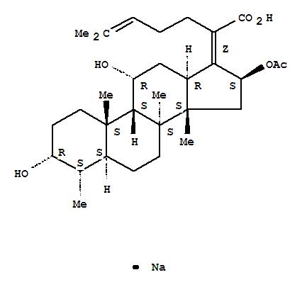 Molecular Structure of 751-94-0 (Fusidate Sodium)