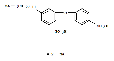 7575-62-4,Benzenesulfonic acid,4-dodecyl-2-(4-sulfophenoxy)-, sodium salt (1:2),Benzenesulfonicacid, 4-dodecyl-2,4'-oxydi-, disodium salt (7CI,8CI);Benzenesulfonic acid,4-dodecyl-2-(4-sulfophenoxy)-, disodium salt (9CI);Disodium4-dodecyl-2,4'-oxydibenzenesulfonate;
