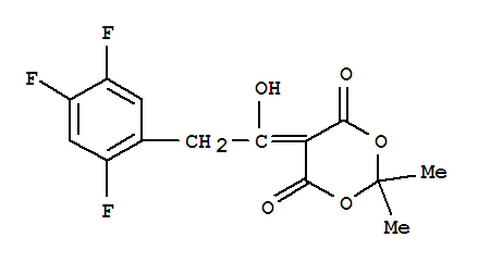 High quality 5-1-Hydroxy-2-(2,4,5-Trifluorophenyl)Ethylidene-2,2-Dimethyl-1,3-Dioxane-4,6-Dione supplier in China