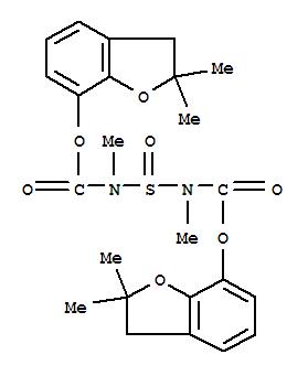77248-42-1,Carbamic acid,sulfinylbis[methyl-, bis(2,3-dihydro-2,2-dimethyl-7-benzofuranyl) ester (9CI),CARBAMIC ACID, SULFINYLBIS(METHYL-, BIS(2,3-DIHYDRO-2,2-DIMETHYL-7-BEN ZOFURANYL)