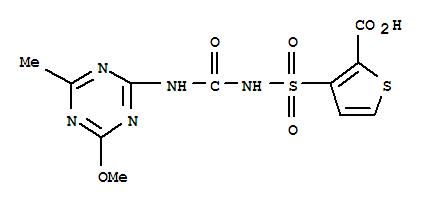 CAS NO:79277-67-1 2-Thiophenecarboxylicacid,3-[[[[(4-methoxy-6-methyl-1,3,5-triazin-2-yl)amino]carbonyl]amino]sulfonyl]- Molecular Structure