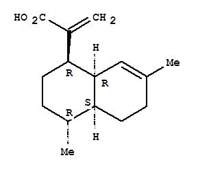 CAS NO:80286-58-4 1-Naphthaleneaceticacid, 1,2,3,4,4a,5,6,8a-octahydro-4,7-dimethyl-a-methylene-, (1R,4R,4aS,8aR)- Molecular Structure