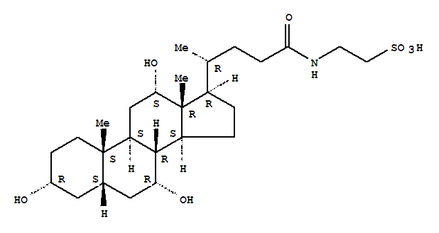 Molecular Structure of 81-24-3 (Ethanesulfonic acid,2-[[(3a,5b,7a,12a)-3,7,12-trihydroxy-24-oxocholan-24-yl]amino]-)