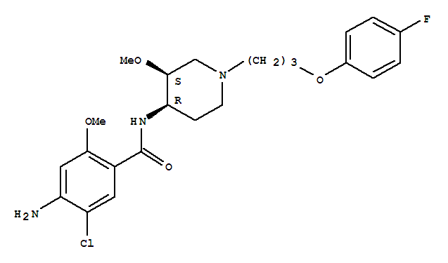 Benzamide,4-amino-5-chloro-N-[1-[(3R,4S)-3-(4-fluorophenoxy)propyl]-3-methoxy-4-piperidinyl]-2-methoxy-,rel-