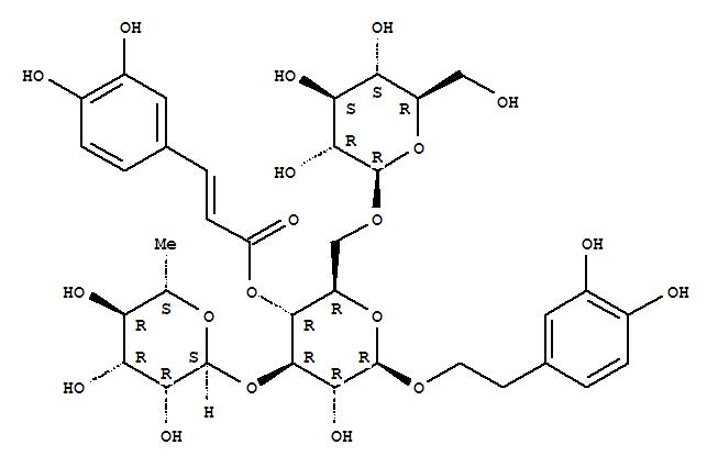 82854-37-3,Echinacoside,b-D-Glucopyranoside,2-(3,4-dihydroxyphenyl)ethyl O-6-deoxy-a-L-mannopyranosyl-(1?3)-O-[b-D-glucopyranosyl-(1?6)]-, 4-[3-(3,4-dihydroxyphenyl)-2-propenoate];