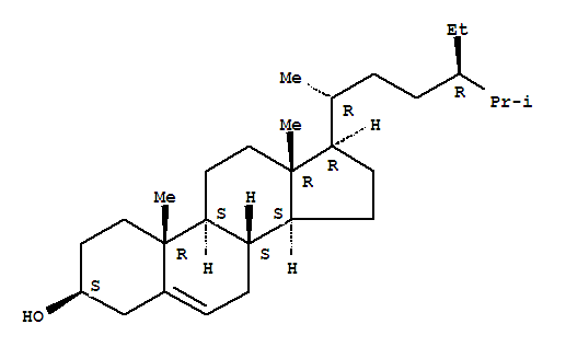 Molecular Structure of 83-46-5 (beta-Sitosterol)