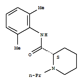 Molecular Structure of 84057-95-4 (2-Piperidinecarboxamide,N-(2,6-dimethylphenyl)-1-propyl-, (2S)-)