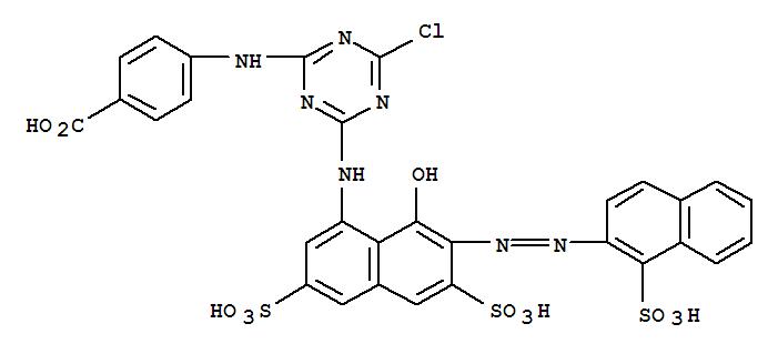 84434-59-3,Benzoic acid,4-[[4-chloro-6-[[8-hydroxy-3,6-disulfo-7-[2-(1-sulfo-2-naphthalenyl)diazenyl]-1-naphthalenyl]amino]-1,3,5-triazin-2-yl]amino]-,Benzoic acid,4-[[4-chloro-6-[[8-hydroxy-3,6-disulfo-7-[(1-sulfo-2-naphthalenyl)azo]-1-naphthalenyl]amino]-1,3,5-triazin-2-yl]amino]-(9CI)