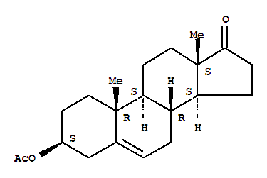 Molecular Structure of 853-23-6 (Androst-5-en-17-one,3-(acetyloxy)-, (3b)-)