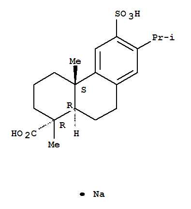 Molecular Structure of 86408-72-2 (1-Phenanthrenecarboxylicacid, 1,2,3,4,4a,9,10,10a-octahydro-1,4a-dimethyl-7-(1-methylethyl)-6-sulfo-,sodium salt (1;1), (1R,4aS,10aR)-)