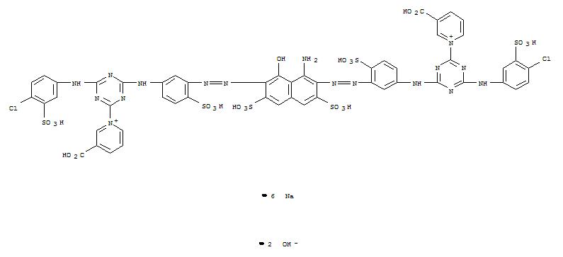 89797-03-5,Pyridinium,1,1'-[(1-amino-8-hydroxy-3,6-disulfo-2,7-naphthalenediyl)bis[2,1-diazenediyl(4-sulfo-3,1-phenylene)imino[6-[(4-chloro-3-sulfophenyl)amino]-1,3,5-triazine-4,2-diyl]]]bis[3-carboxy-,hydroxide, sodium salt (1:2:6),Pyridinium,1,1'-[(1-amino-8-hydroxy-3,6-disulfo-2,7-naphthalenediyl)bis[azo(4-sulfo-3,1-phenylene)imino[6-[(4-chloro-3-sulfophenyl)amino]-1,3,5-triazine-4,2-diyl]]]bis[3-carboxy-,dihydroxide, hexasodium salt (9CI)