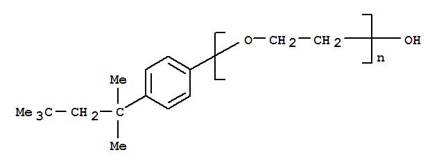 CAS NO:9002-93-1 Poly(oxy-1,2-ethanediyl),a-[4-(1,1,3,3-tetramethylbutyl)phenyl]-w-hydroxy- Molecular Structure