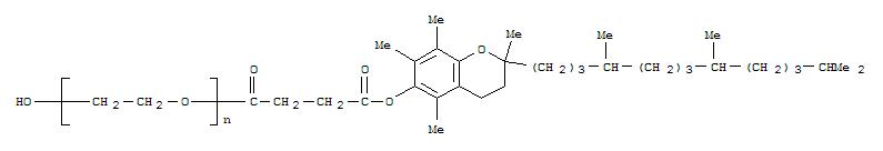 CAS NO:9002-96-4 Poly(oxy-1,2-ethanediyl),a-[4-[[(2R)-3,4-dihydro-2,5,7,8-tetramethyl-2-[(4R,8R)-4,8,12-trimethyltridecyl]-2H-1-benzopyran-6-yl]oxy]-1,4-dioxobutyl]-w-hydroxy- Molecular Structure
