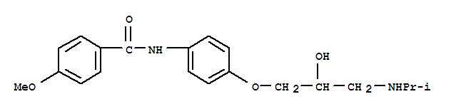 Molecular Structure of 90895-85-5 (Benzamide,N-[4-[2-hydroxy-3-[(1-methylethyl)amino]propoxy]phenyl]-4-methoxy-)