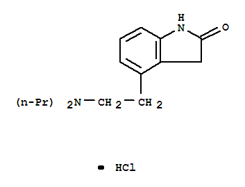 Molecular Structure of 91374-20-8 (2H-Indol-2-one,4-[2-(dipropylamino)ethyl]-1,3-dihydro-, hydrochloride (1:1))