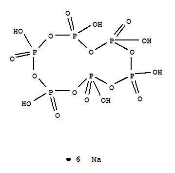 Molecular Structure of 10124-56-8 (Sodium metaphosphate)