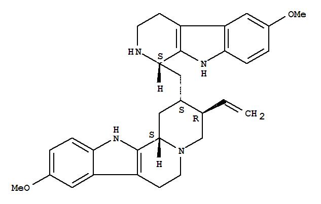 10438-17-2,Indolo[2,3-a]quinolizine,3-ethenyl-1,2,3,4,6,7,12,12b-octahydro-9-methoxy-2-[[(1S)-2,3,4,9-tetrahydro-6-methoxy-1H-pyrido[3,4-b]indol-1-yl]methyl]-,(2S,3R,12bS)-,17-Norcorynan,18,19-didehydro-10-methoxy-16-(2,3,4,9-tetrahydro-6-methoxy-1H-pyrido[3,4-b]indol-1-yl)-,[16(S)]-; Indolo[2,3-a]quinolizine,3-ethenyl-1,2,3,4,6,7,12,12b-octahydro-9-methoxy-2-[[(1S)-2,3,4,9-tetrahydro-6-methoxy-1H-pyrido[3,4-b]indol-1-yl]methyl]-,(2R,3R,12bS)- (9CI); Isocinchophyllamine (8CI); 1H-Pyrido[3,4-b]indole,17-norcorynan deriv.; 3a,17a-Cinchophylline